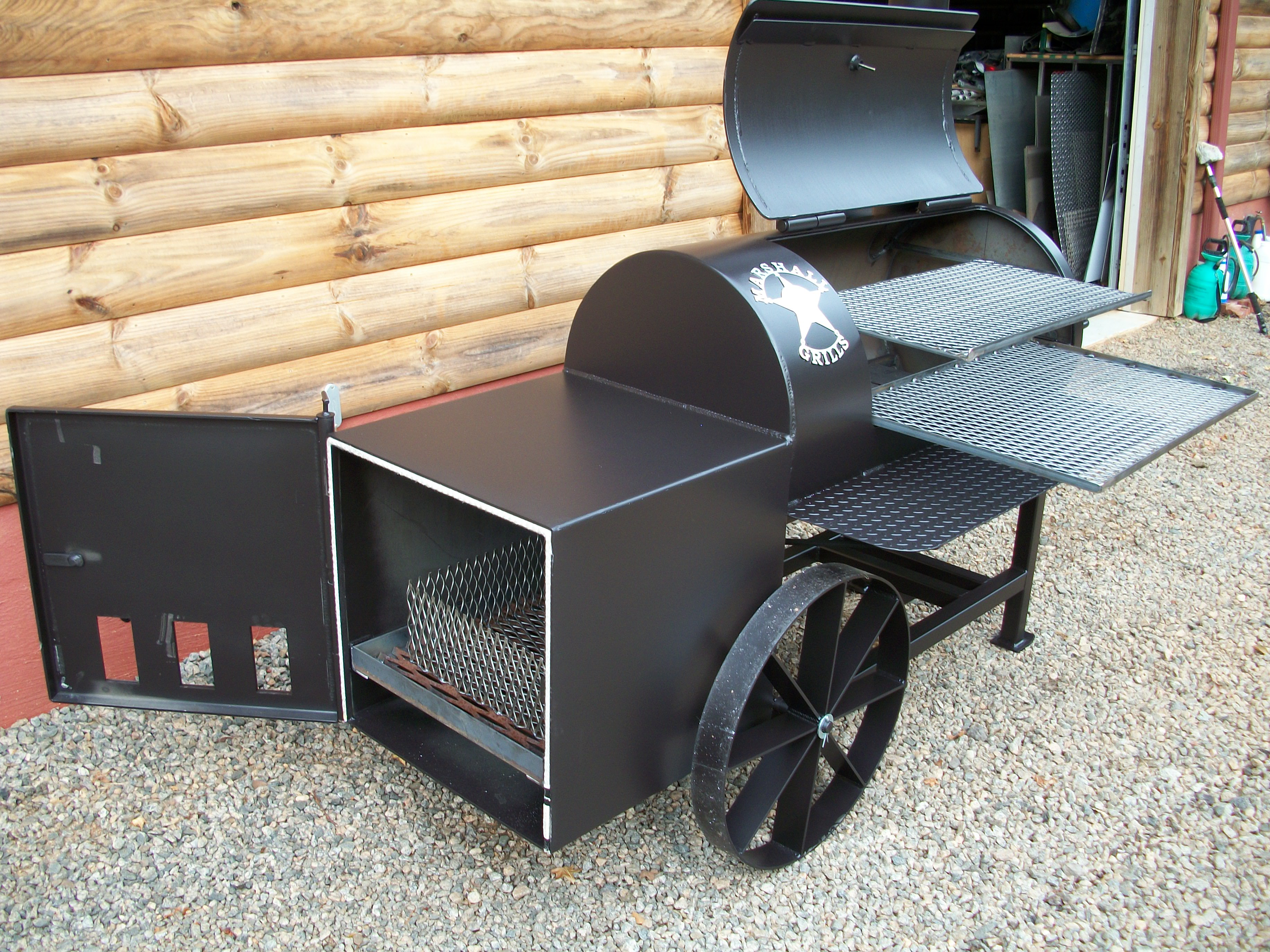 grills home designs for backyards on back yard smoker pit plans